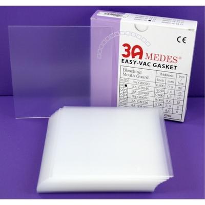 EV Gasket Bleaching 040 - пластины для изготовления капп для отбеливания, квадратные (127x127x1,0 мм), 25 шт.| 3A MEDES (Ю. Корея)