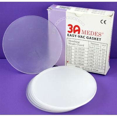 EV Gasket Mouthguard 160 - пластины для изготовления защитных капп, круглые, (125x4,0 мм), 6 шт. | 3A MEDES (Ю. Корея)