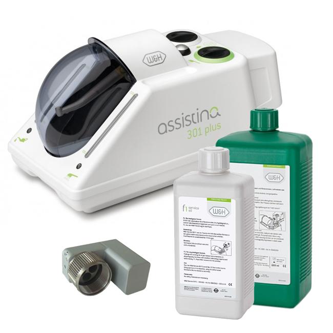 Assistina 301 Plus - аппарат для автоматической чистки и смазки  наконечников (W&H, KaVo, Bien-Air, Sirona, NSK) в комплекте с базовым  адаптером и комплектом жидкостей | Купить по низкой цене стоматологическое  оборудование W&H