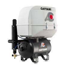 Cattani 45-165 - безмасляный стоматологический компрессор для CAD/CAM, трехцилиндровый, в пластиковом кожухе, c осушителем, с ресивером 45 л, 165 л/мин