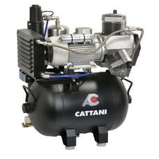 Cattani 45-165 - безмасляный стоматологический компрессор для CAD/CAM, трехцилиндровый, c осушителем, с ресивером 45 л, 165 л/мин