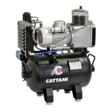 Cattani 30-67 - безмасляный компрессор для одной стоматологической установки, с осушителем, с ресивером 30 л, 67,5 л/мин