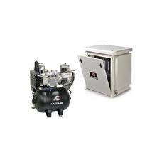 Cattani 45-238 - безмасляный компрессор для 3-х стоматологических установок, c осушителем, с кожухом, с ресивером 45 л, 238 л/мин