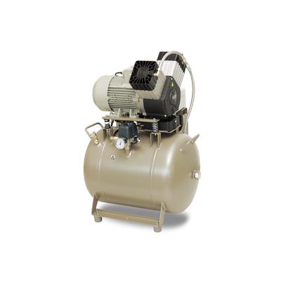 EKOM DK50 2V/50/M - безмасляный компрессор для 2-x стоматологических установок без кожуха, с осушителем, с ресивером 50 л | EKOM (Словакия)