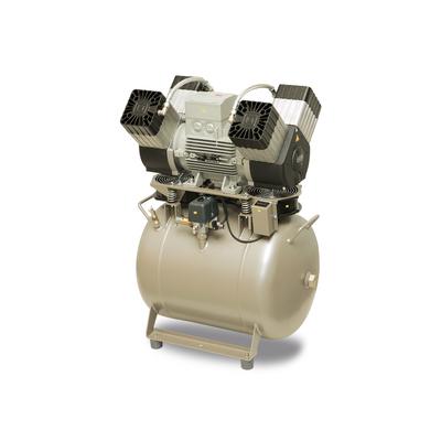 EKOM DK50 4VR/50/M - безмасляный компрессор для 4-x стоматологических установок без кожуха, с осушителем, с ресивером 50 л | EKOM (Словакия)