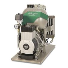 EKOM DK50-10 Z - безмасляный компрессор для одной стоматологической установки без кожуха, без осушителя, с ресивером 10 л