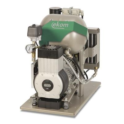 EKOM DK50-10 Z - безмасляный компрессор для одной стоматологической установки без кожуха, без осушителя, с ресивером 10 л | EKOM (Словакия)