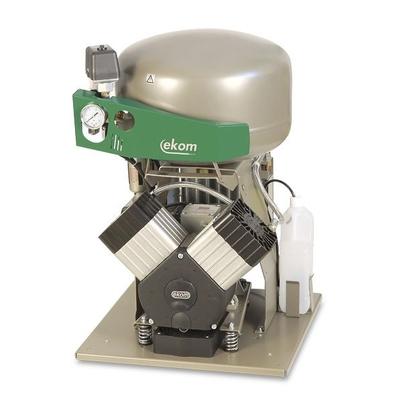 EKOM DK50 2V - безмасляный компрессор для 2-x стоматологических установок без кожуха, без осушителя, с ресивером 25 л | EKOM (Словакия)