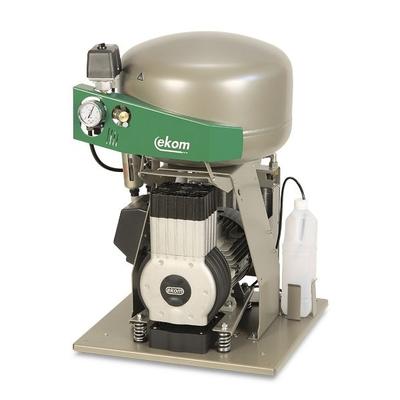 EKOM DK50 Plus S/M - безмасляный компрессор для одной стоматологической установки с кожухом, с осушителем, с ресивером 25 л | EKOM (Словакия)