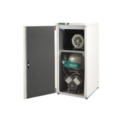 EKOM DUO 2V - компрессор с отсасывателем в двухразделенном шкафу, с ресивером 25 л (140 л/мин) | EKOM (Словакия)