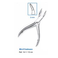 Кусачки костные Mini-Friedmann 12,0 см (рабочая часть 3 мм)