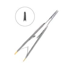 Иглодержатель хирургический прямой Castroviejo-Gomel TC,16 см