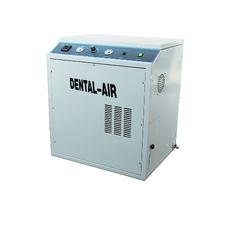 Dental Air 3/24/379 - безмасляный воздушный компрессор на 3 установки, с осушителем, с кожухом, 200 л/мин
