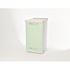 AR-03 - тумба напольная, металл в полимере, 1 выдвижной ящик, встроенный холодильник