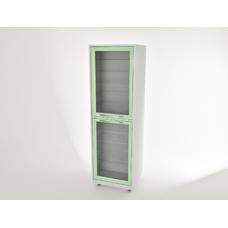 AR-E11 - шкаф закрытого типа, металл в полимере, 2 секции, 10 полок