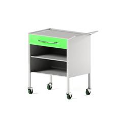 AR-H25 - столик передвижной инструментальный, металл в полимере, 2 полки, 1 выдвижной ящик