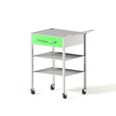 AR-H26 - столик передвижной инструментальный, металл в полимере, 2 полки, 1 выдвижной ящик