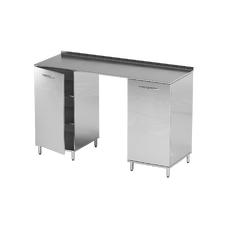 AR-L01 - стол, нержавеющая сталь, 4 полки