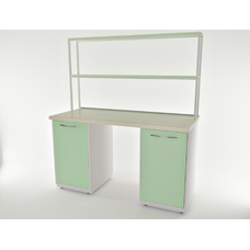 AR-L01N - стол, металл в полимере, 6 полок