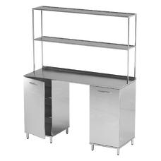 AR-L01N - стол, нержавеющая сталь, 6 полок
