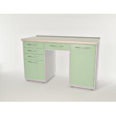 AR-L04 - стол, металл в полимере, 2 полки, 5 выдвижных ящиков