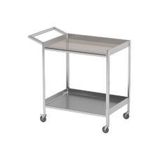 AT-B29 - столик передвижной инструментальный, нержавеющая сталь, 2 полки
