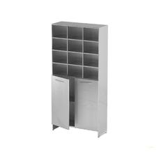AT-S012 - шкаф-стеллаж для одноразовой одежды, нержавеющая сталь, 12 ячеек