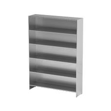 AT-S013 - шкаф-стеллаж для одноразовой одежды, нержавеющая сталь, 5 полок