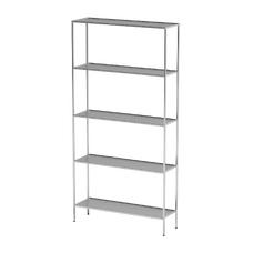 AT-S01 - шкаф-стеллаж для одноразовой одежды, нержавеющая сталь, 5 полок