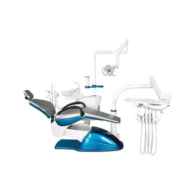 Azimut 300A MO - стоматологическая установка с верхней подачей инструментов, мягкой обивкой кресла и двумя стульями | Azimut (Китай)