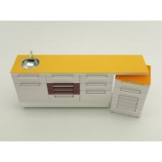 Bassano  - комплект мебели для хранения стоматологических инструментов, с выдвижными ящиками