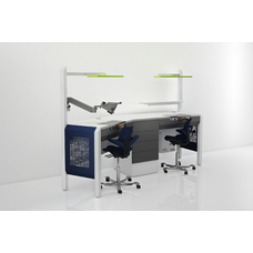 COJMP.13 - стол зубного техника на два рабочих места