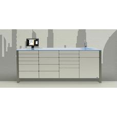 Dubai  - комплект мебели для хранения стоматологических инструментов, с выдвижными ящиками