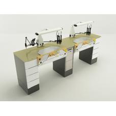 Duofull - стол зубного техника на два рабочих места