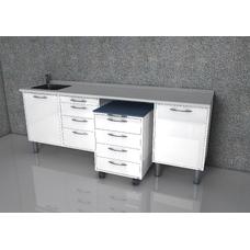 Gandhi  - комплект мебели для хранения стоматологических инструментов, с выдвижными ящиками