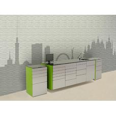 Kiev  - комплект мебели для хранения стоматологических инструментов, с выдвижными ящиками