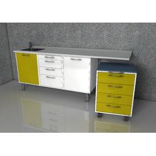 Margaret  - комплект мебели для хранения стоматологических инструментов, с выдвижными ящиками
