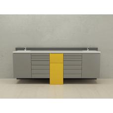 New York  - комплект мебели для хранения стоматологических инструментов, с выдвижными ящиками