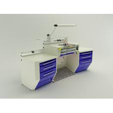 OPERATIVE 04 - стол зубного техника на одно рабочее место