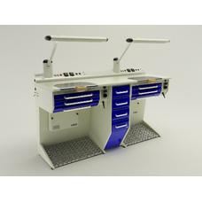 OPERATIVE 05 - стол зубного техника на два рабочих места