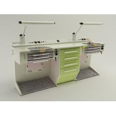 OPERATIVE 06 - стол зубного техника на два рабочих места