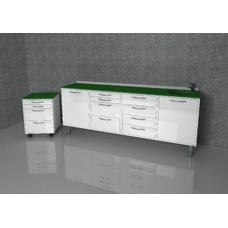 Rita  - комплект мебели для хранения стоматологических инструментов, с выдвижными ящиками