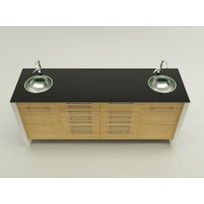 Treviso  - комплект мебели для хранения стоматологических инструментов, с выдвижными ящиками