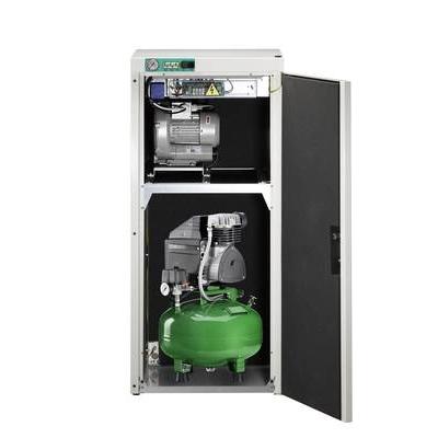 KD 124 AB - комбинированный безмасляный компрессор для одной стоматологической установки с отсасывающим агрегатом, с кожухом, с ресивером 24 л (60 л/мин) | Diplomat Dental (Словакия)