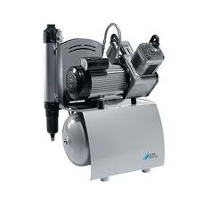 Duo - двухцилиндровый безмасляный компрессор с мембранным осушителем, с ресивером 20 л, 105 л/мин