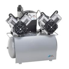 Duo Tandem - безмасляный компрессор с двумя агрегатами для 5-ти стоматологических установок, с осушителем, с ресивером 50 л, 260 л/мин