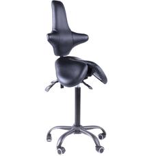 Gravitonus EZDuo Back - эргономичный стул-седло со спинкой, двуразделенное седло