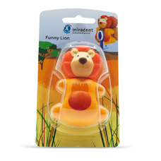 Funny Lion (Лев) - гигиенический футляр для зубных щёток с дверками-защёлками, лев