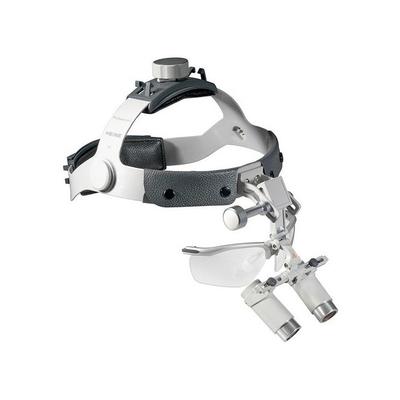Heine HRP Set B - бинокулярные лупы высокого разрешения с увеличением 3,5х, 4х и 6х и креплением на шлеме с защитным щитком S-Guard | Heine (Германия)