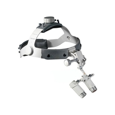 Heine HRP Set C - бинокулярные лупы высокого разрешения с увеличением 3,5х, 4х и 6х и креплением на шлеме без защитного щитка S-Guard